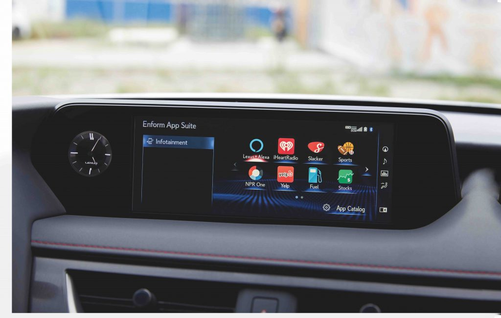 The Lexus Multimedia System is coupled with the upgraded 10.3-inch display, adding numerous features to support customers' digital lifestyles.UX drivers will be able to integrate standard safety features with their smartwatch, Amazon-enabled, or Google Assistant enabled device. Such actions include lock/unlock their doors, start their engine, or check their fuel level. It can also be controlled by voice commands, and compatible with select Android or Apple devices.All UX models come standard with Apple CarPlay®phone functionality. When a compatible iPhone®is connected through a USB cable, drivers can access Apple Music, Google maps, Waze, and Spotify, plus make phone calls and send and receive messages all through the multimedia display or with voice control through Siri®.